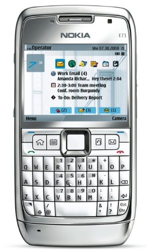 Nokia E71 Unlocked Phone with 3.2 MP Camera, 3G, Media Player, GPS with Free Voice Navigation, Wi-Fi, and MicroSD Slot–U.S. Version with Warranty (White)