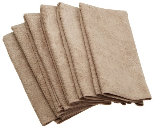 DII Kitchen Millenium Microfiber Kitchen Towel, Taupe, Set of 6