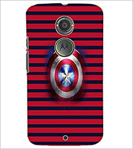 PrintDhaba Captain America Shield D-4545 Back Case Cover for MOTOROLA MOTO X2 (Multi-Coloured)