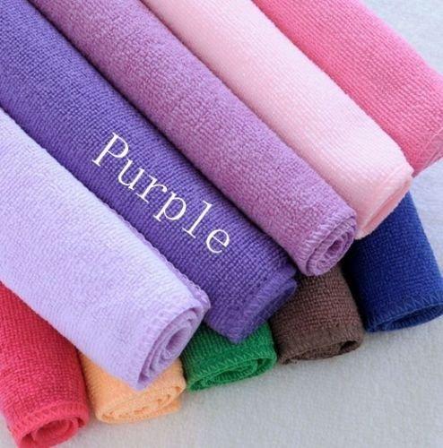 Purple Microfiber Face Hair Clean Towels Kitchen Dish Cloths Household Car Wash 30*70Cm