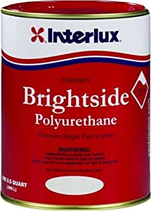 Interlux Brightside Polyurethane Topside Boat Paint Sea Green Quart