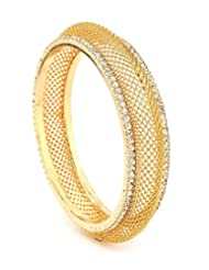 Akshim Gold Alloy Bangle For Women
