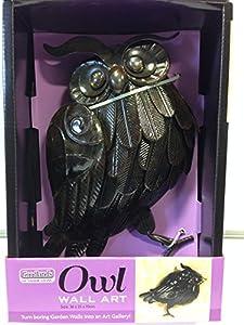 Owl Wall Art Wall Decor Owl Metal Dark Brown Art