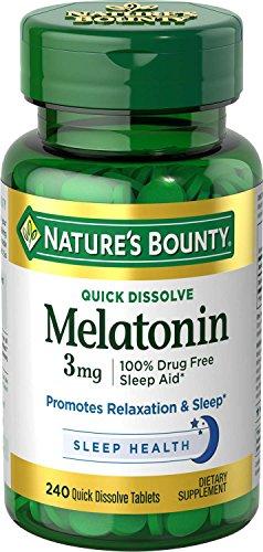 Nature's Bounty Melatonin 3 mg, 240 Quick Dissolve Tablets