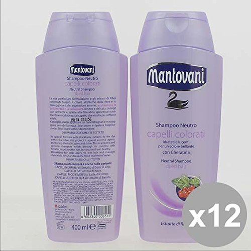 Set 12 MANTOVANI Shampoo 400Ml Color Prodotti per capelli