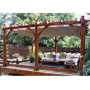 12x16 Breeze Pergola with Retractable Canopy: Amazon.co.uk ...