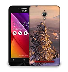 Snoogg Trees With Snow Designer Protective Phone Back Case Cover For Asus Zenfone GO