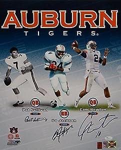 Jackson, Newton & Sullivan Autographed 16x20 Auburn Heisman Photo- Auth - JSA... by Sports+Memorabilia