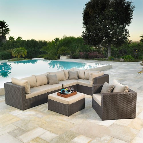 Great Newport piece Patio Modular Deep Seating Collection by Mission Hills price