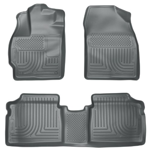 Husky Liners Custom Fit WeatherBeater Molded Front and Second Seat Floor Liner for Select Toyota Prius Models (Grey)