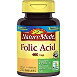 Nature Made Folic Acid, 400 mcg, Tablets, 250 tablets