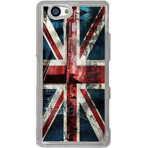 Casotec London Flag wallpaper Design 2D Hard Back Case Cover for Sony Xperia Z1 Mini / Compact - Clear  available at amazon for Rs.399