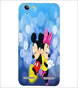 PrintDhaba Mickey and Minnie D-3476 Back Case Cover for LENOVO VIBE K5 PLUS (Multi-Coloured)