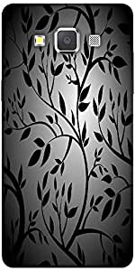 Snoogg black trees seamless vector wallpaper Hard Back Case Cover Shield For Samsung Galaxy A7