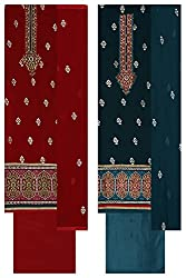 KESSI Women's Georgette Unstitched Dress Material (Multicolor, Combo of 2)