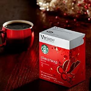 Verismo Christmas Blend Pods -12 Servings Starbucks