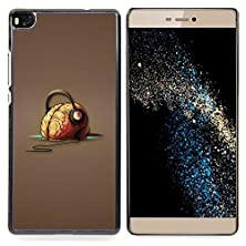 buy - Brain Headphones Music Art Drawing Vibes - Slim Guard Armor Phone Case- For Huawei P8 Devil Case