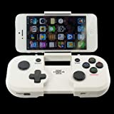 Ckeyin Bluetooth 3.0 Wireless Game Controller Gamepad for iPhone, iPad, iPad mini, Tablet PC, STB TV Android Smart Phone (White)