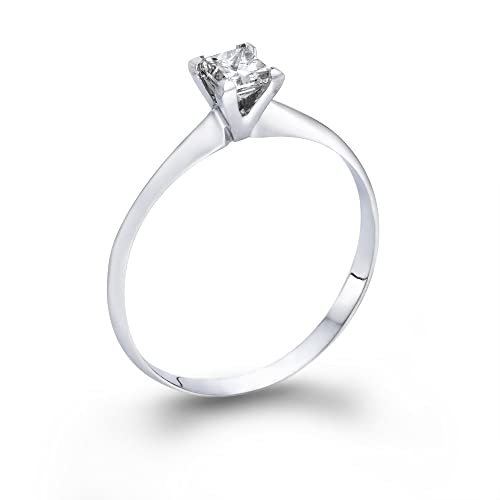 1-4-ct-Princess-Cut-Diamond-Solitaire-Engagement-Ring-in-14k-White-Gold