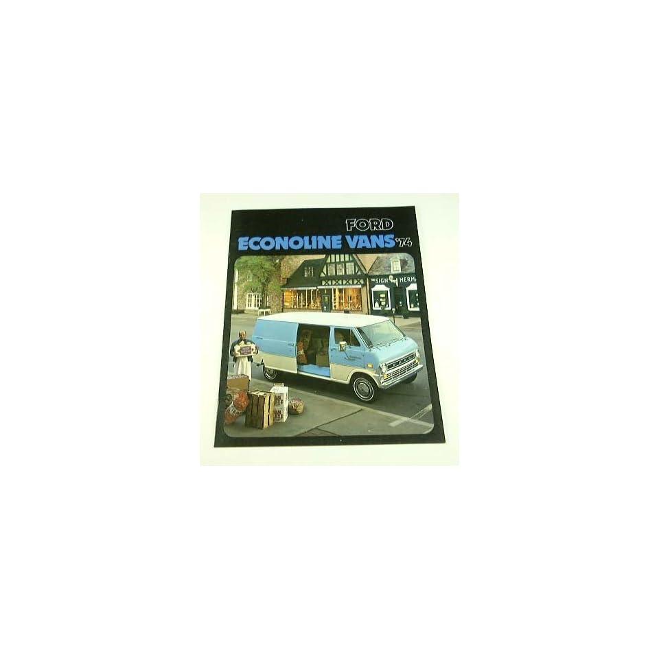 1974 74 Ford ECONOLINE Van BROCHURE E100 E200 E300