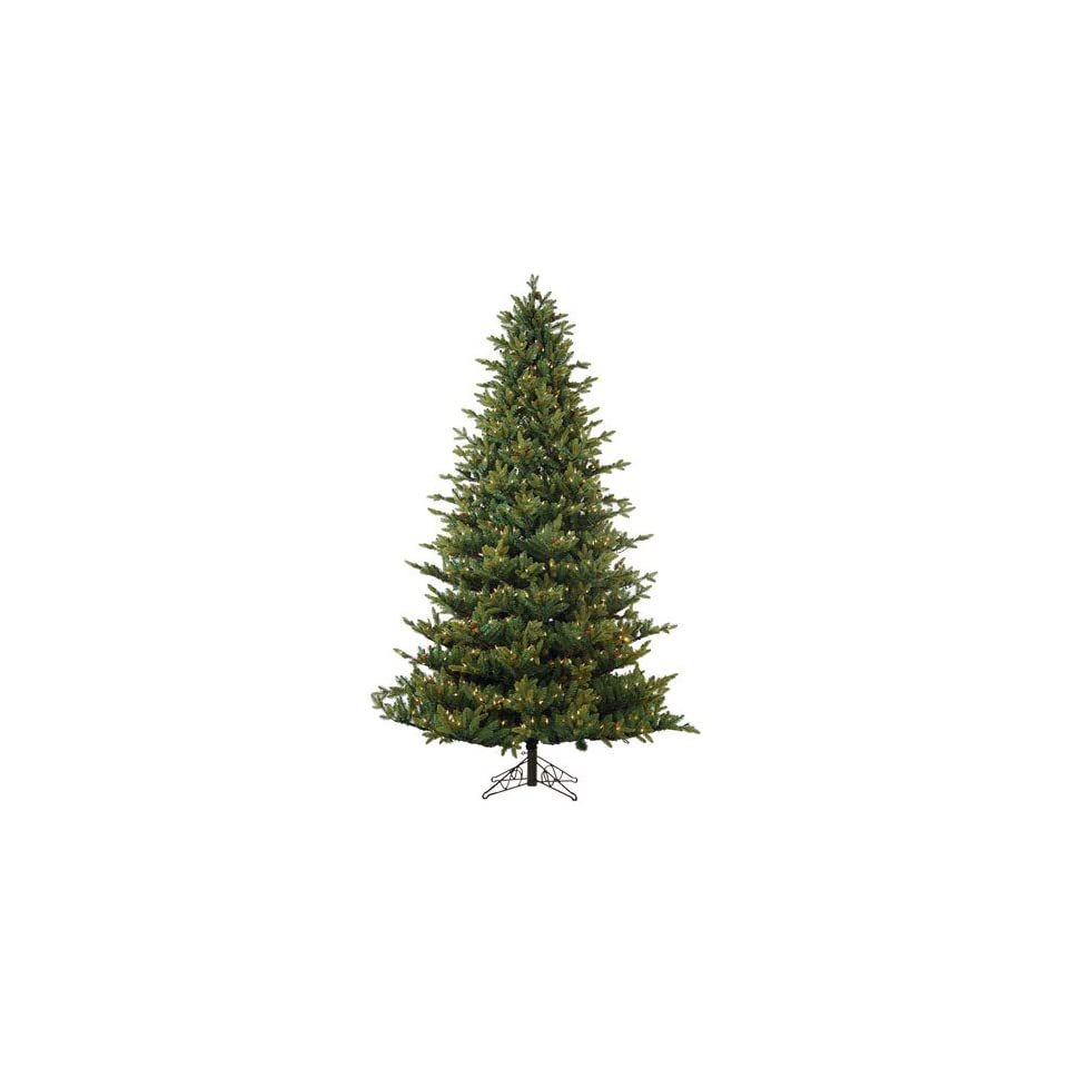7.5 Pre Lit Oregon Pine Artificial Christmas Tree with Pine Cones  Clear Lights