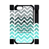 Best Friend Tiffany Fade Turquoise Chevron APPLE IPHONE 5 or 5S Best Durable PVC Cover Case
