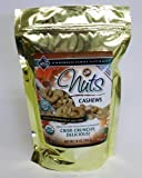 Nuts, Raw, Soaked & Dried, Certified Organic, Cashews 1 lb.