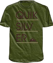 Quiksilver Boys 8-16 Stacker Short Sleeve Rashguard Green L