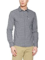 PEAK PERFORMANCE Camisa Hombre Gust Ls (Azul Oscuro / Blanco)