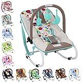 Infantastic - Hamaca para bebés con cinturón de seguridad y 3 puntos de fijación - modelo menta