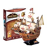 Santa Maria Ship Pilgrimage To The United States 3D Puzzle. Home/Office Decoration