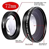 Neewer 0.45x 72mm Wide Angle Lens with Macro for Canon EOS 7D, 60D, EF 28-135mm f/3.5-5.6 IS, EF-S 18-200mm f/3.5-5.6 IS USM, 1v, XL2, XH A1, EF 35mm f/1.4L USM, EF-S 15-85mm f/3.5-5.6 IS