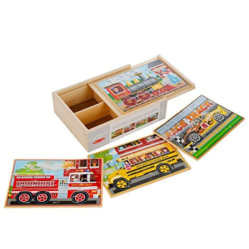 Carter's Wooden 12 Piece Jigsaw Puzzle (Vehicles)