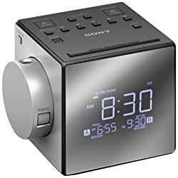 Sony Compact AM/FM Dual Alarm Clock Radio with Large LED Display Soothing Nature Sounds Time Projection USB Port Gradual Wake Alarm Adjustable Brightness Plus Built in Backup Battery