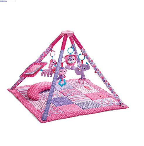 Infantino Twist & Fold Activity Gym & Play Mat, Pink (2 Pack) front-966065