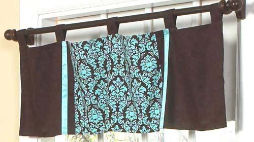 Turquoise And Brown Bella Window Valance By Sweet Jojo Designs