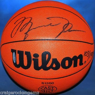 "Michael Jordan Signed Autographed Basketball LE ""IM BACK"" 103/1995 AUTO - Upper Deck Certified - Autographed Basketballs"