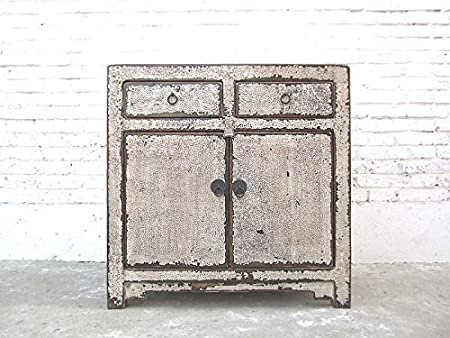 De toilette chat commode de style shabby chic heavy kalkweiß luxury park 2 tiroirs