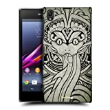 Head Case Black And White Quetzalcoatl Back Case Cover For Sony Xperia Z1 C6902