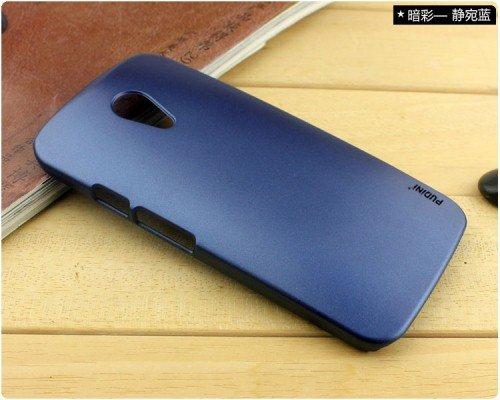 Pudini Dark Series Back Case Cover Moto G2 Moto G 2nd gen XT1068 - BLUE - Free Clear Screenguard