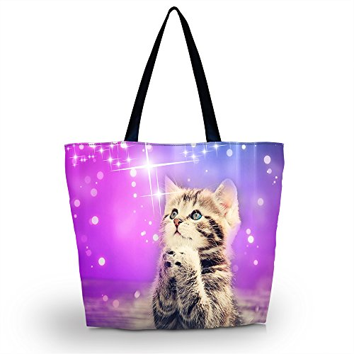 Colorfulbags Cute Cat Women's Shopping Shoulder