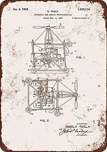 1928-tesla-brevetto-per-arial-trasporto-stile-vintage-riproduzione-in-metallo-segni-305-x-406-cm