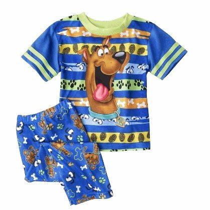 Scooby Doo Blue Striped Toddler Pajamas For Boys (4T) back-539140