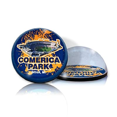 "MLB Detroit Tigers - Comerica park - in 2"" crystal Magnetized paperweight with Colored Window Gift Box"
