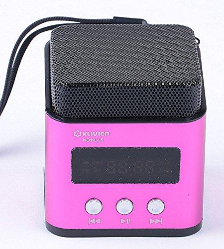 Kl Portable Mini Usb Fm Radio Speaker Music Player Tf Card For Pc Ipod Phone (L5 Pink)
