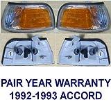 Pair Front -- Side Marker Lamp Light replaces OEM 34351SM4A03, 34301SM4A03 Interchange 116-58336L, 116-58336R Partslink HO2554102, HO2555102