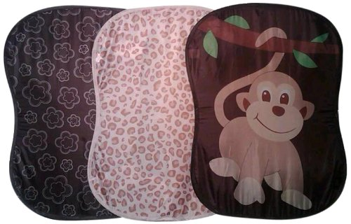 Starting Small Storage Hamper Combo Pack, Monkey/Floral/Leopard