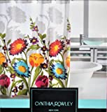 Cynthia Rowley FIORINA Pink Blue Yellow Red Floral Fabric Shower Curtain