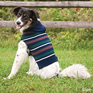 Fashion Pet Outdoor Dog Woodland Hooded Sweater, Medium, Blue