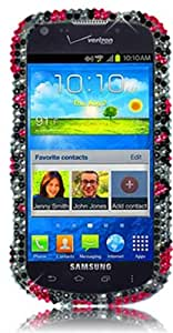 Qtech QT-1560 Unique Dazzling Diamond Bling Case for Samsung Galaxy Stellar i200 - 1 Pack - Retail Packaging - Pink Leopard